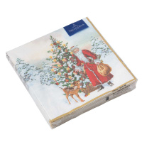 картинка Villeroy Boch Winter Specials Serviette Cocktail  Nikolaus mit Tannenbaum  20 Штука 25x25 cm