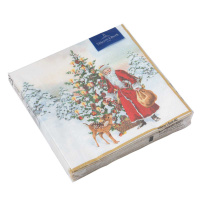 картинка Villeroy Boch Winter Specials Serviette Lunch  Nikolaus mit Tannenbaum  20 Штука 33x33 cm