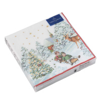 картинка Villeroy Boch Winter Specials Serviette Cocktail  Kinder mit Schlitten  20 Штука 25x25 cm